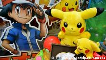 Pokemon figures are seen at the International Tokyo Toy Show 2016 in Tokyo, Japan June 10, 2016. (Photo by Hitoshi Yamada/NurPhoto) | Keine Weitergabe an Wiederverkäufer. © picture-alliance/dpa/H.Yamada