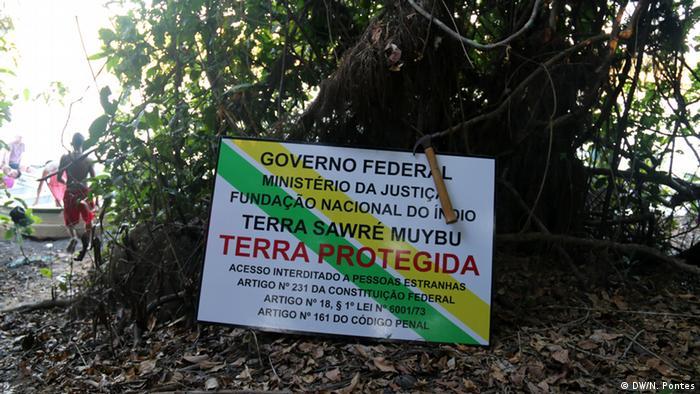 Brasilien Volkstamm Munduruku Demarkation