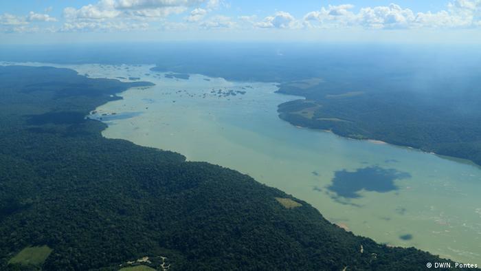 Rio Tapajós na Amazônia brasileira