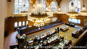 The Permanent Court of Arbitration at The Hague in the Netherlands.