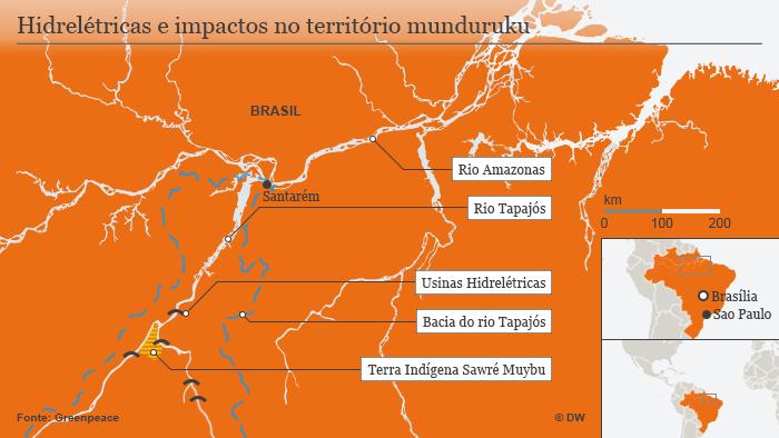 Infográfico Manduruku, hidrelétricas no Rio Tapajós