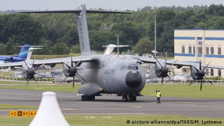 Airbus A400M aircraft at Farnborough air show
