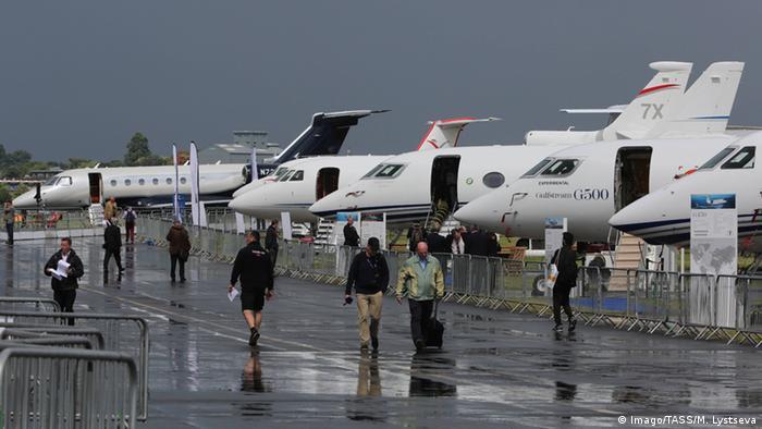 Großbritannien Flugschau Farnborough 2016 Privatjets