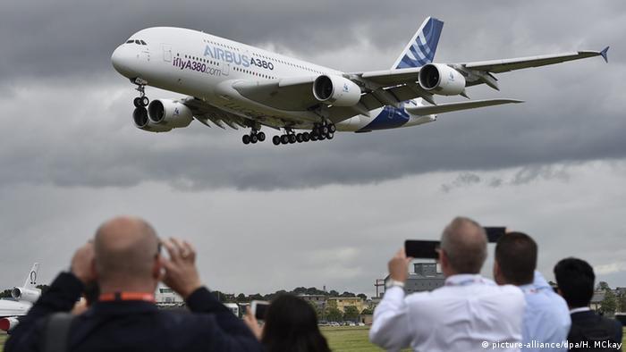 Großbritannien Flugschau Farnborough 2016 Airbus A-380
