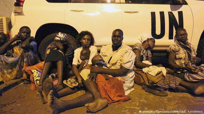Südsudan Flüchtlinge suchen Schutz UN-Mission in Juba