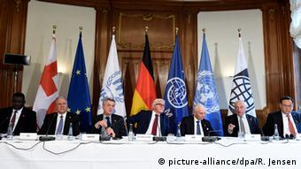 Refugee conference in Berlin, Copyright: picture-alliance/dpa/R. Jensen