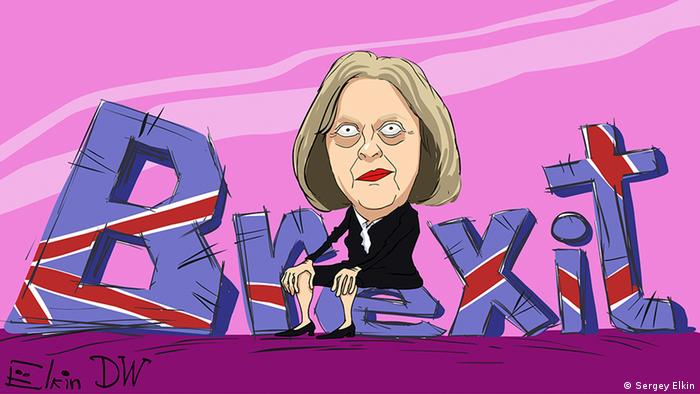 Sergey Elkin cartoon of Theresa May