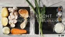 Ukraine Kocht, Kochbuch, Maultaschen, Käsekuchen, Hähnchenschnitzel, ukrainische Küche, Gerichte Videostill DW Eigendreh