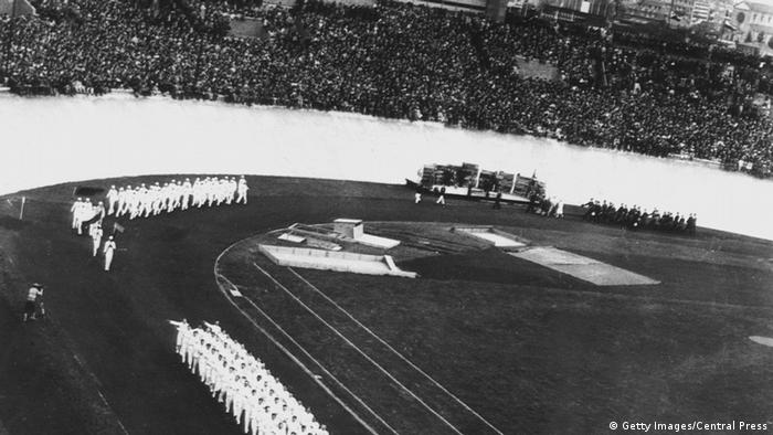 Opening ceremony of the 1928 Olympic Games in Amsterdam, Copyright: Getty Images/Central Press