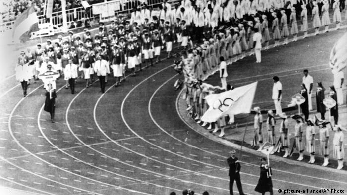 Opening ceremony of the 1980 Olympic Games in Moscow, Copyright: picture-alliance/AP Photo