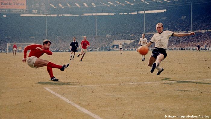 Geoff Hurst na final da Copa do Mundo de 1966