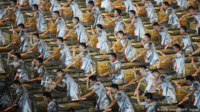 Drummers at the opening ceremony of the Olympic Games in Beijing 2008, Copyright: Getty Images/AFP/P. Ugarte