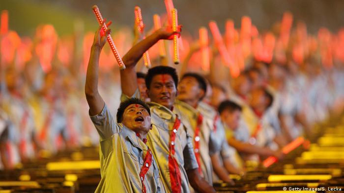 Olympische Spiele 2008 Peking Eröffnungszeremonie (Getty Images/S. Lecka)