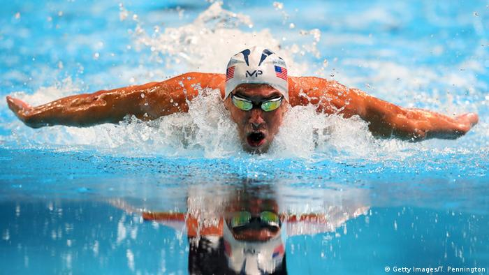 USA Omaha Schwimmer Michael Phelps
