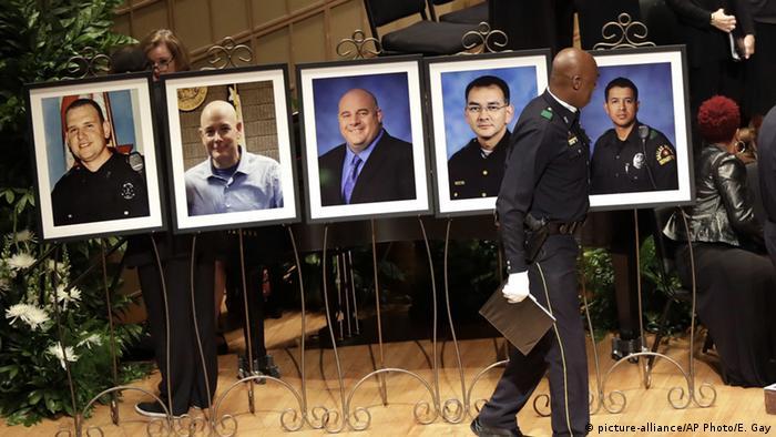 Cinco agentes mortos foram alvo de emboscada durante protesto contra violência policial em Dallas