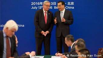 China EU-China-Gipfel Jean-Claude Juncker und Li Keqiang