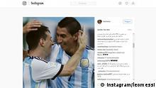 Screenshot Instagram Messi