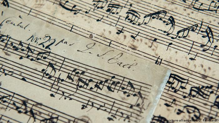 Rare J.S. Bach manuscript, Copyright: picture-alliance/dpa/D. Reinhardt.