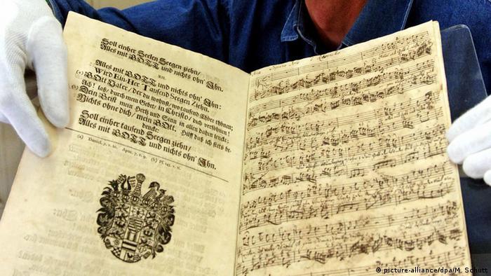 England Johann Sebastian Bach seltenes Manuskript zur Versteigerung (picture-alliance/dpa/M. Schutt)