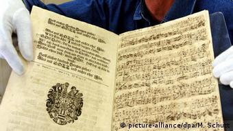 Original manuscript of a composition by Johann Sebastian Bach