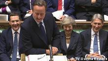 Großbritannien David Cameron letzter Arbeitstag im Unterhaus