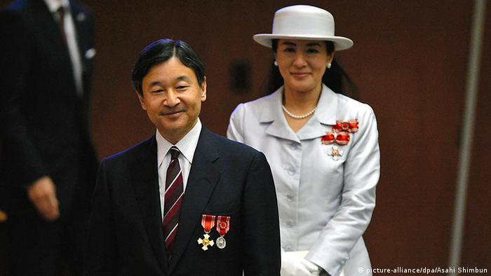 Japanese Crown Prince Naruhito, left, and Crown Princess Masako