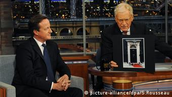 David Cameron David Letterman (picture-alliance/dpa/S.Rousseau)