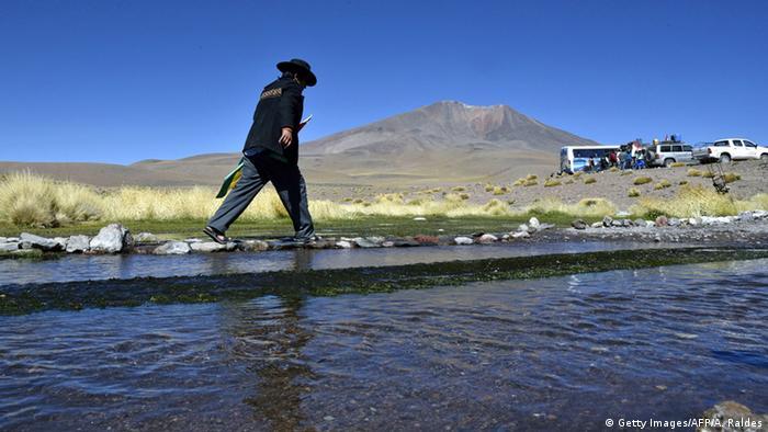 El río Silala, en la frontera entre Bolivia y Chile, zona de conflicto. Los conflictos entre Chile y Bolivia se remontan a fines del siglo XIX.