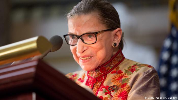 US Supreme Court Justice Ruth Bader Ginsberg