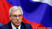 13.07.2016 Russian ambassador to NATO Alexander Grushko addresses a news conference after the NATO-Russia Council at the Alliance headquarters in Brussels, Belgium, July 13, 2016. REUTERS/Francois Lenoir (c) Reuters/F. Lenoir