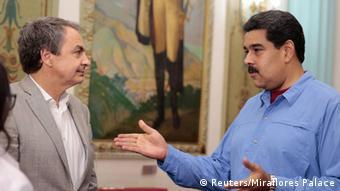 Nicolás Maduro y José Luis Rodríguez Zapatero, probable enviado especial de la UE.