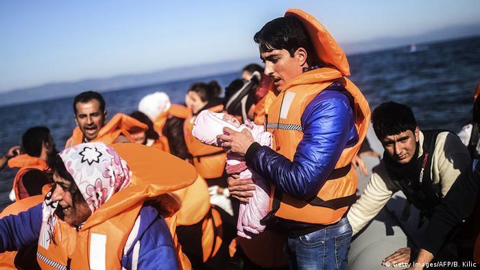 Griechenland Bootsflüchtlinge im Mittelmeer