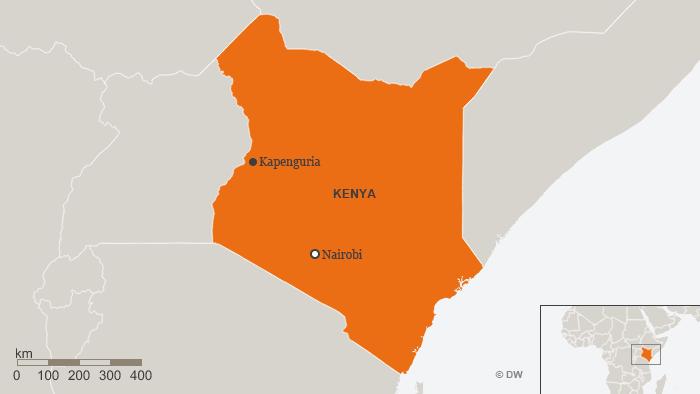 Karte Kenia Kapenguria Englisch