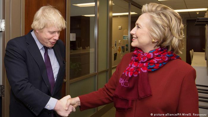 Борис Джонсон и Хиллари Клинтон.