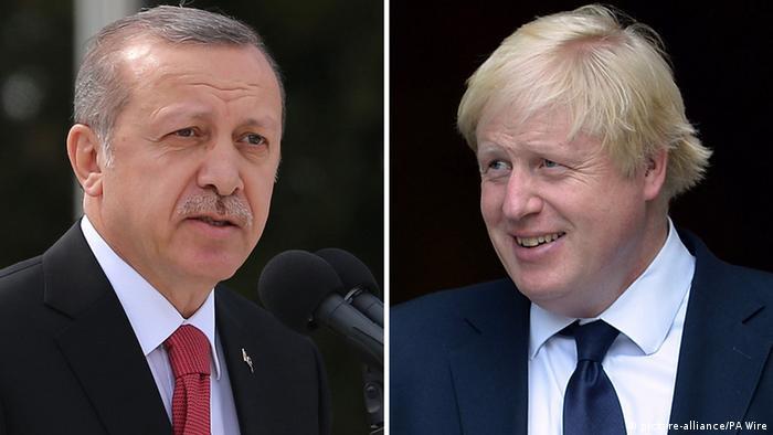 Türkiye Cumhurbaşkanı Recep Tayyip Erdoğan ve İngiltere Başbakanı Boris Johnson
