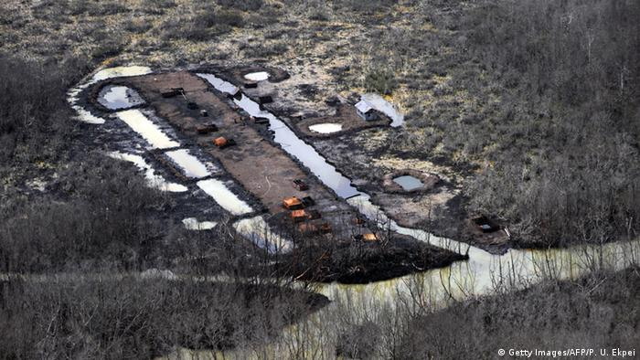 Nigeria Ölverschmutzung Öl Ogoniland illegale Ölraffinerie