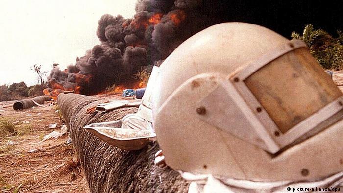 Nigeria Niger Delta Ölverschmutzung Öl Pipeline