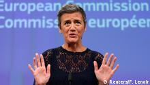 14.07.2016 European Competition Commissioner Margrethe Vestager holds a news conference at the EU Commission headquarters in Brussels, Belgium, July 14, 2016. REUTERS/Francois Lenoir Copyright: Reuters/F. Lenoir