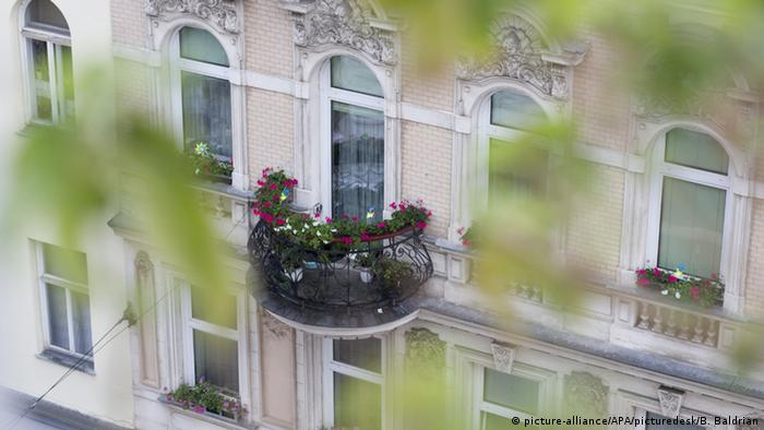 Stadtgrün am Balkon