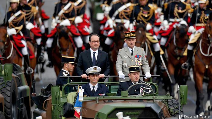 Frankreich Paris Parade Nationalfeiertag Hollande