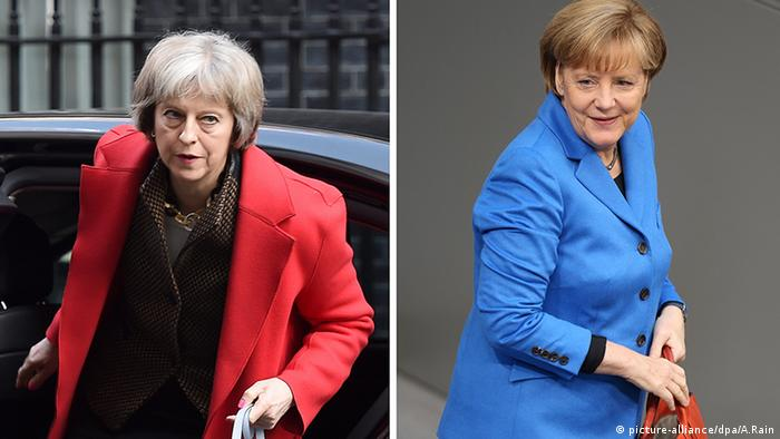 Theresa May and Angela Merkel, Copyright: picture-alliance/dpa/A.Rain
