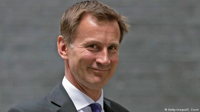 Großbritannien Jeremy Hunt in London