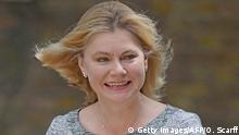 Großbritannien Justine Greening in London