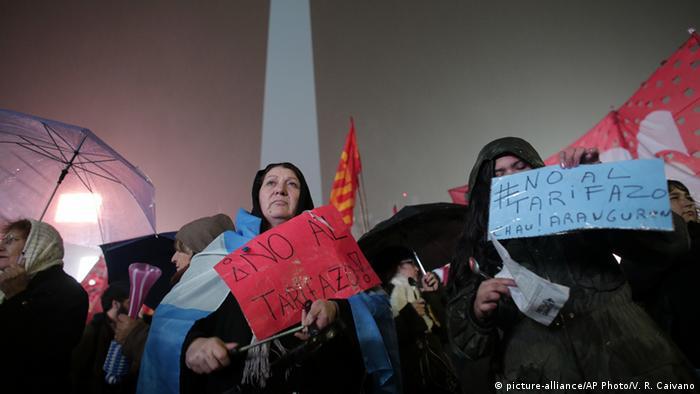 Argentinien Demonstration