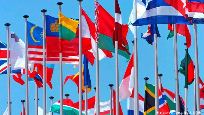 International flags (picture alliance/dpa/P. Kneffel)