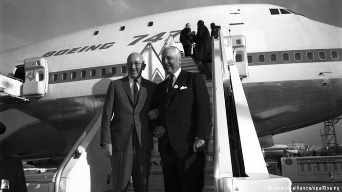 Boeing President Bill Allen and the head of Pan Am, Juan Trippe