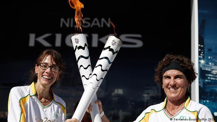 Städte-Tour des Olympischen Feuer in Brasilien Fortaleza
