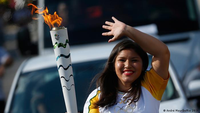 Städte-Tour des Olympischen Feuer in Brasilien Rio Branco