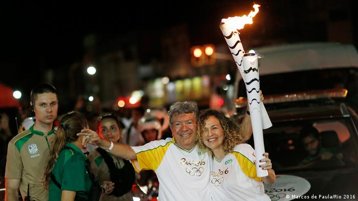 Städte-Tour des Olympischen Feuer in Brasilien