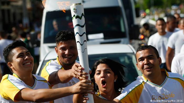 Städte-Tour des Olympischen Feuer in Brasilien Belem do Para